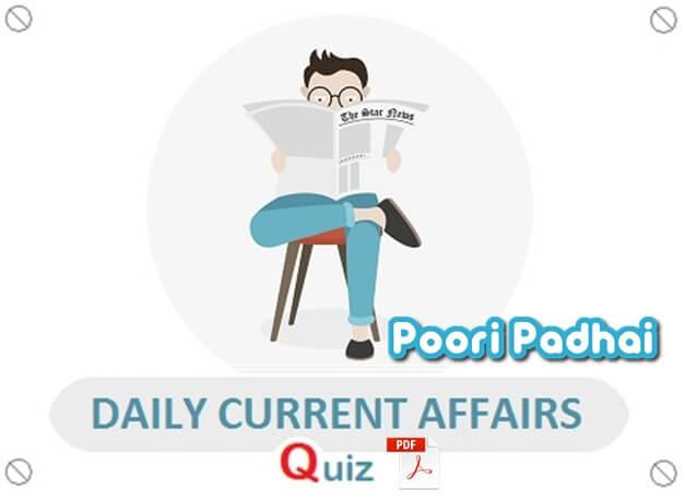 Current Affairs Daily Quiz