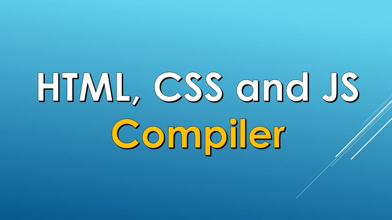 HTML CSS JS Compiler