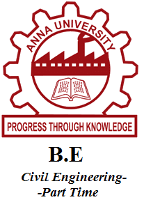 B.E Civil Engineering-Part Time