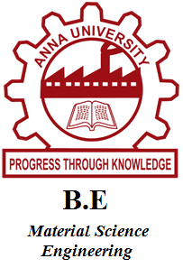 B.E Material Science Engineering