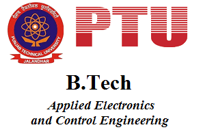 B.Tech Applied Electronics and Control Engineering
