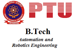 B.Tech Automation and Robotics Engineering